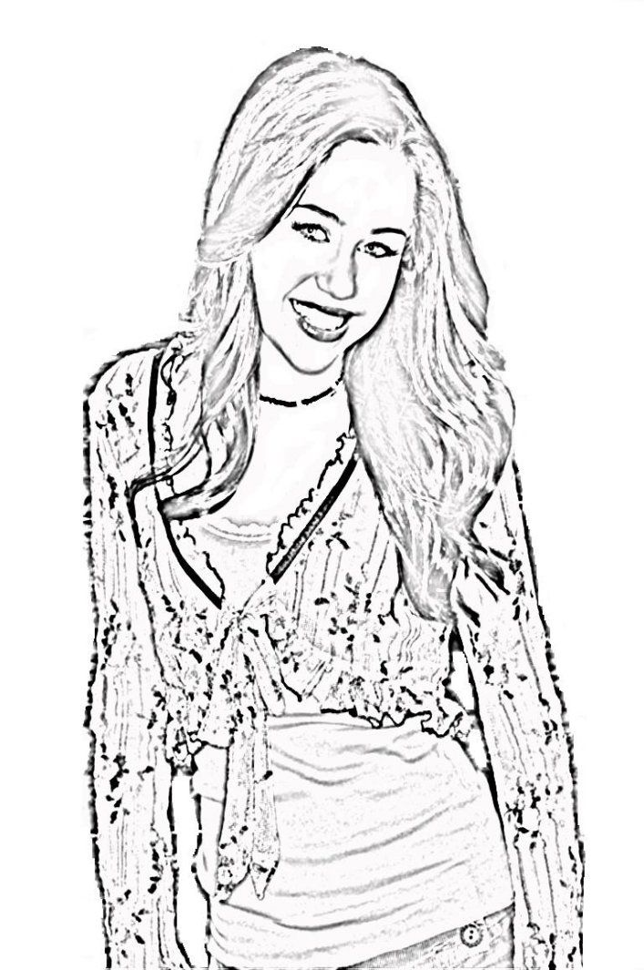 hannah montana online coloring pages  coloring home
