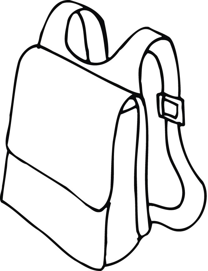 Backpack Coloring Pages Coloring Home