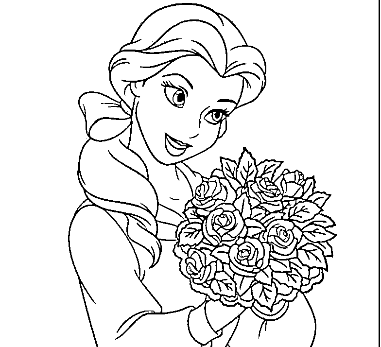 Disney Belle Coloring Pages Coloring Home