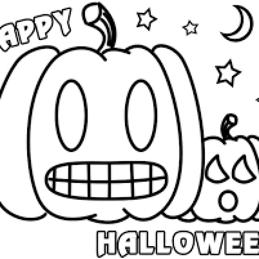 Free Printable Preschool Halloween Coloring Pages