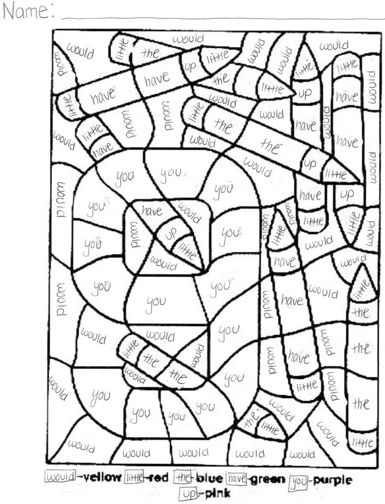 sight words coloring pages - coloring home