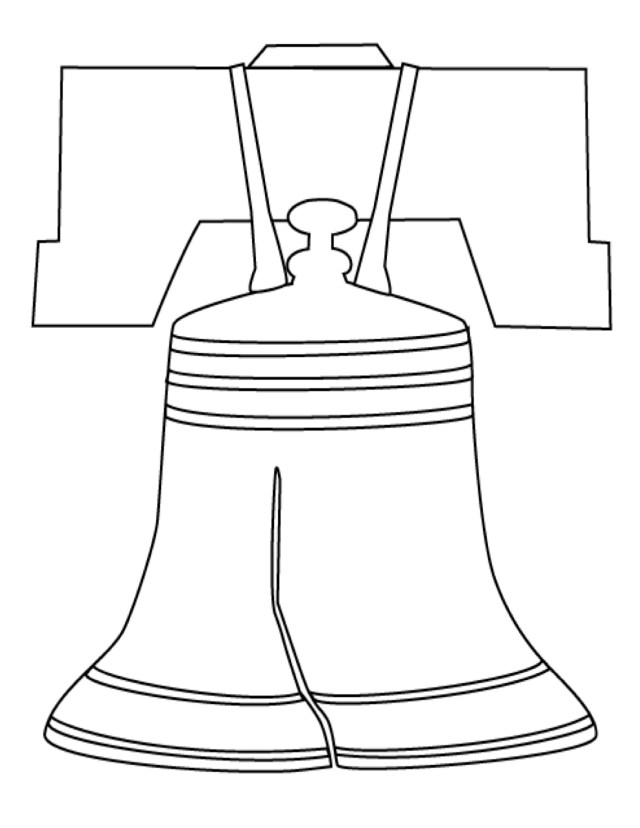 Liberty Bell Coloring Page - Coloring Home