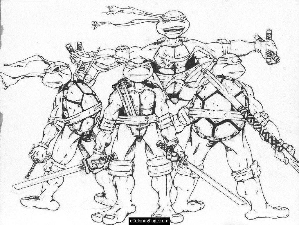 Christmas Ninja Turtles Coloring Pages