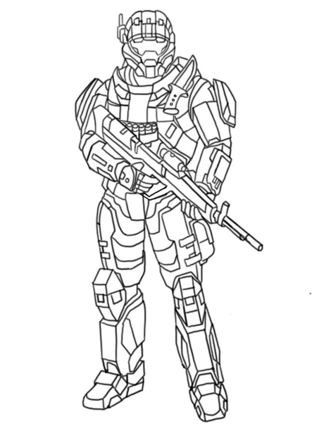 Printable Halo Coloring Pages  Coloring Me - Coloring Home