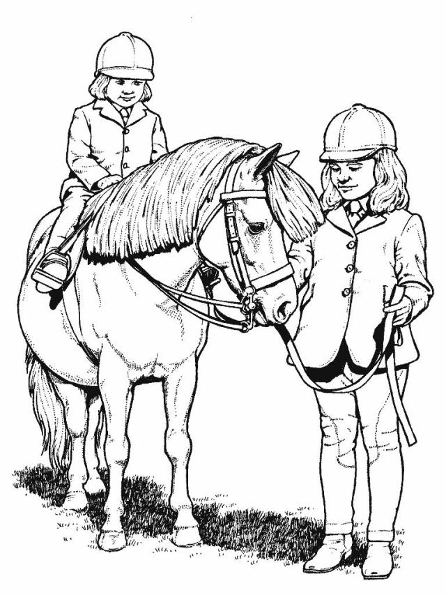 Printable Coloring Pages Horse Show - Coloring Home