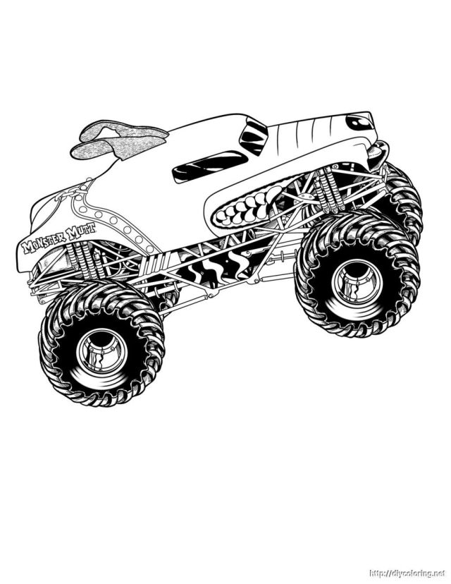 Grave Digger Monster Truck Coloring Pages Printable 21