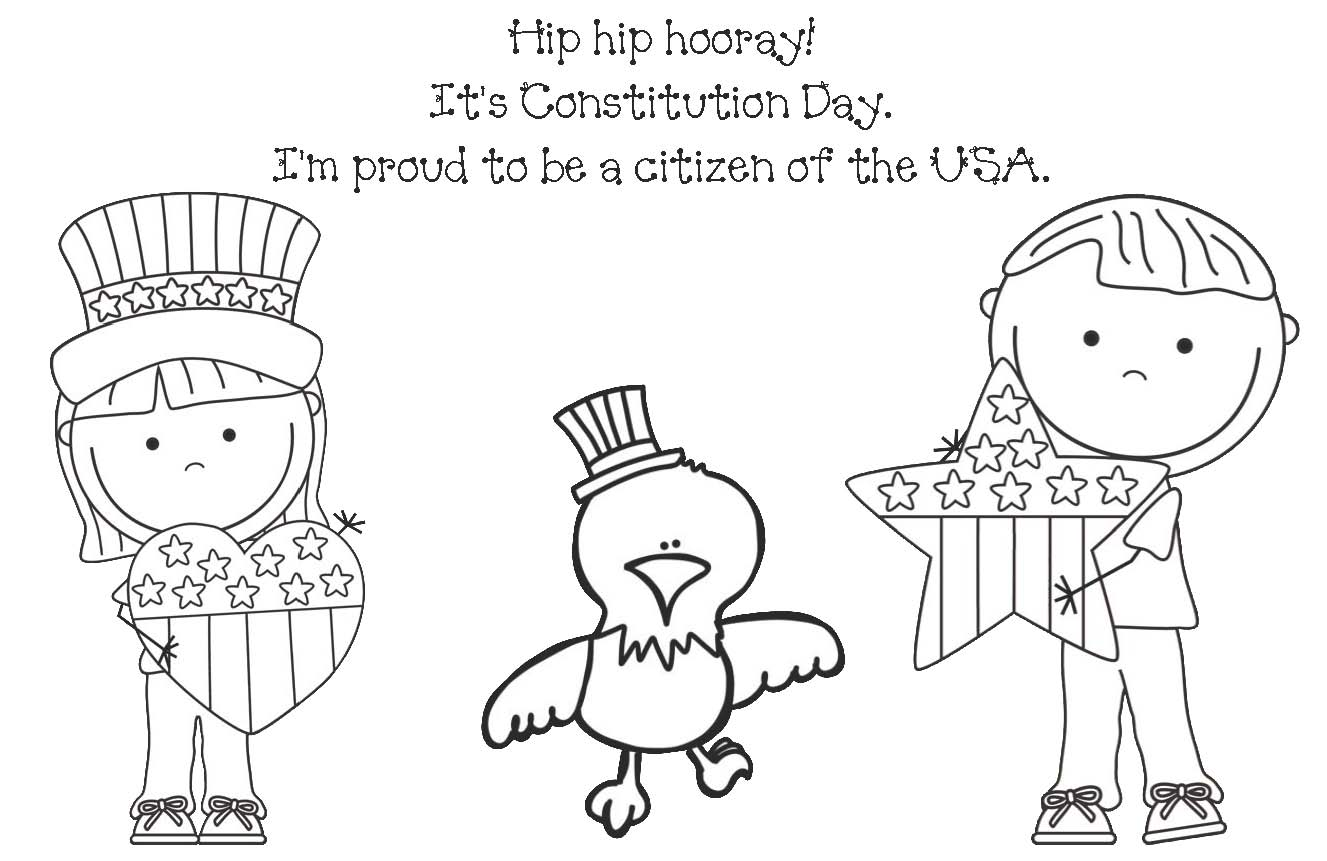 Beautiful Constitution Day Coloring Page Coloring Home