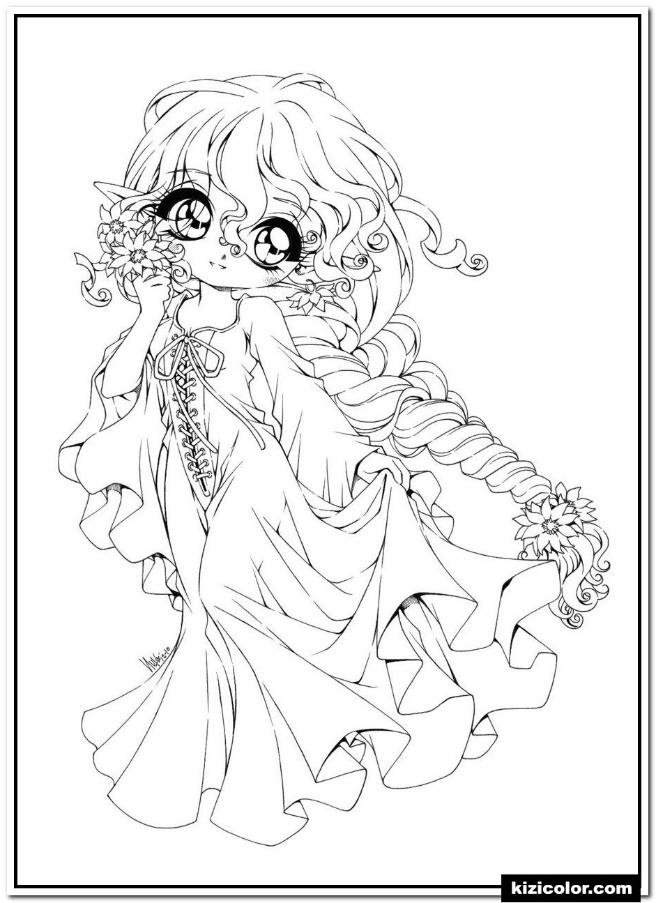 Anime Chibi Coloring Pages Coloring Home
