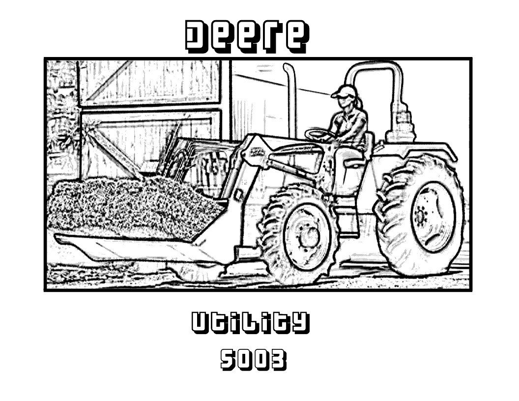 9 Pics Of 70 John Deere Coloring Pages