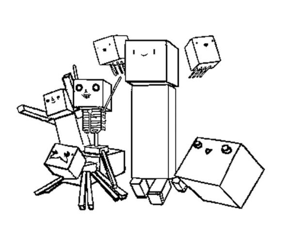 minecraft coloring pages to print # 18