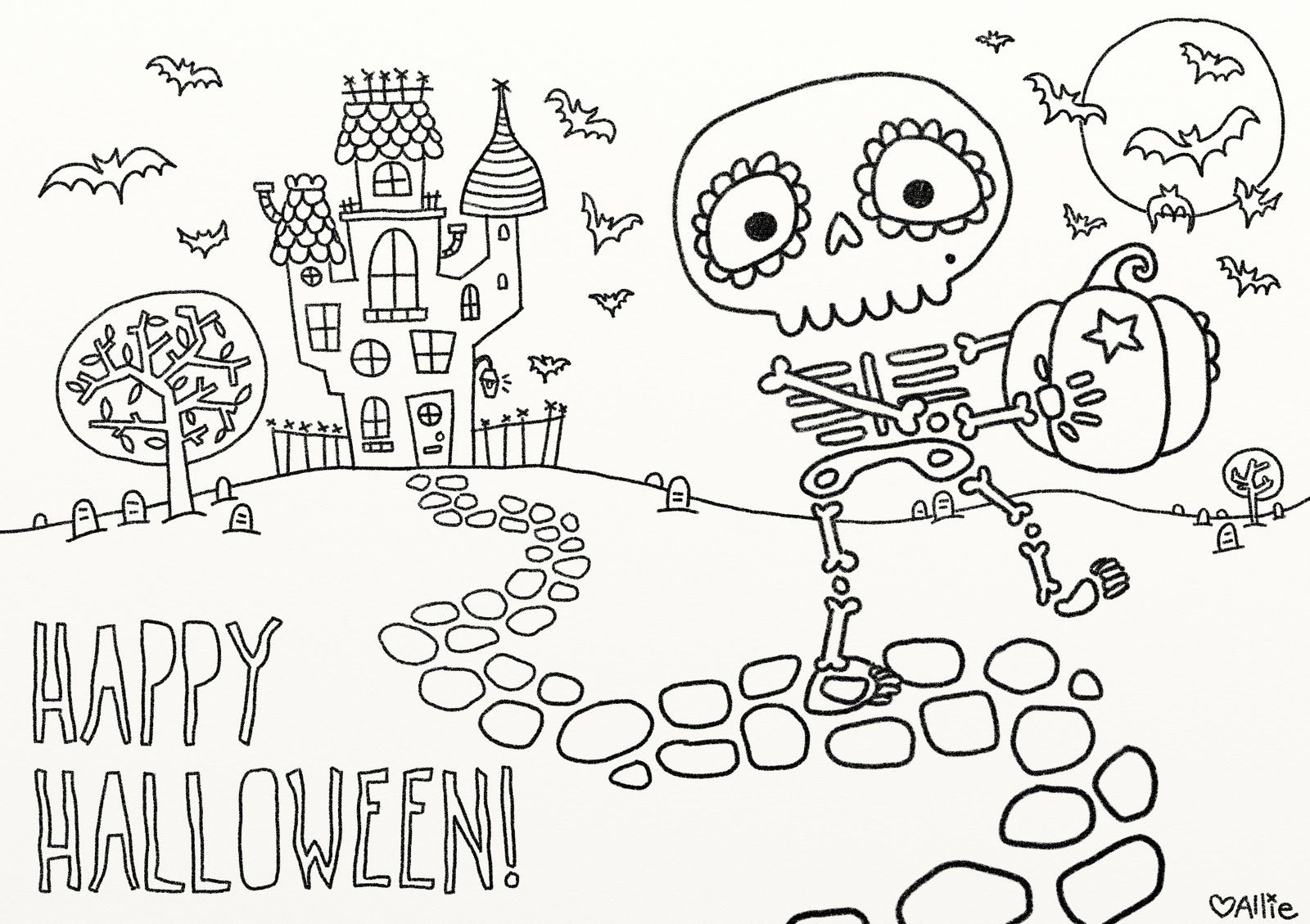 Scary Halloween Coloring Pages For Teens