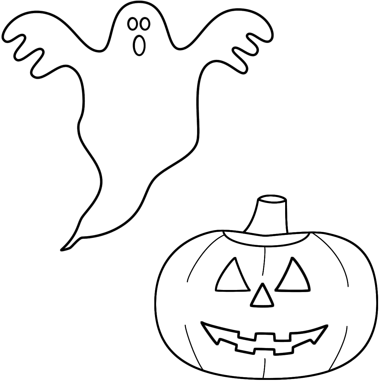 Very Scary Ghost Coloring Pages