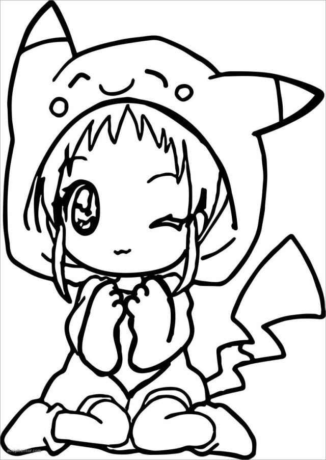 Cute Anime Chibi Girl Coloring Pages - ColoringBay - Coloring Home