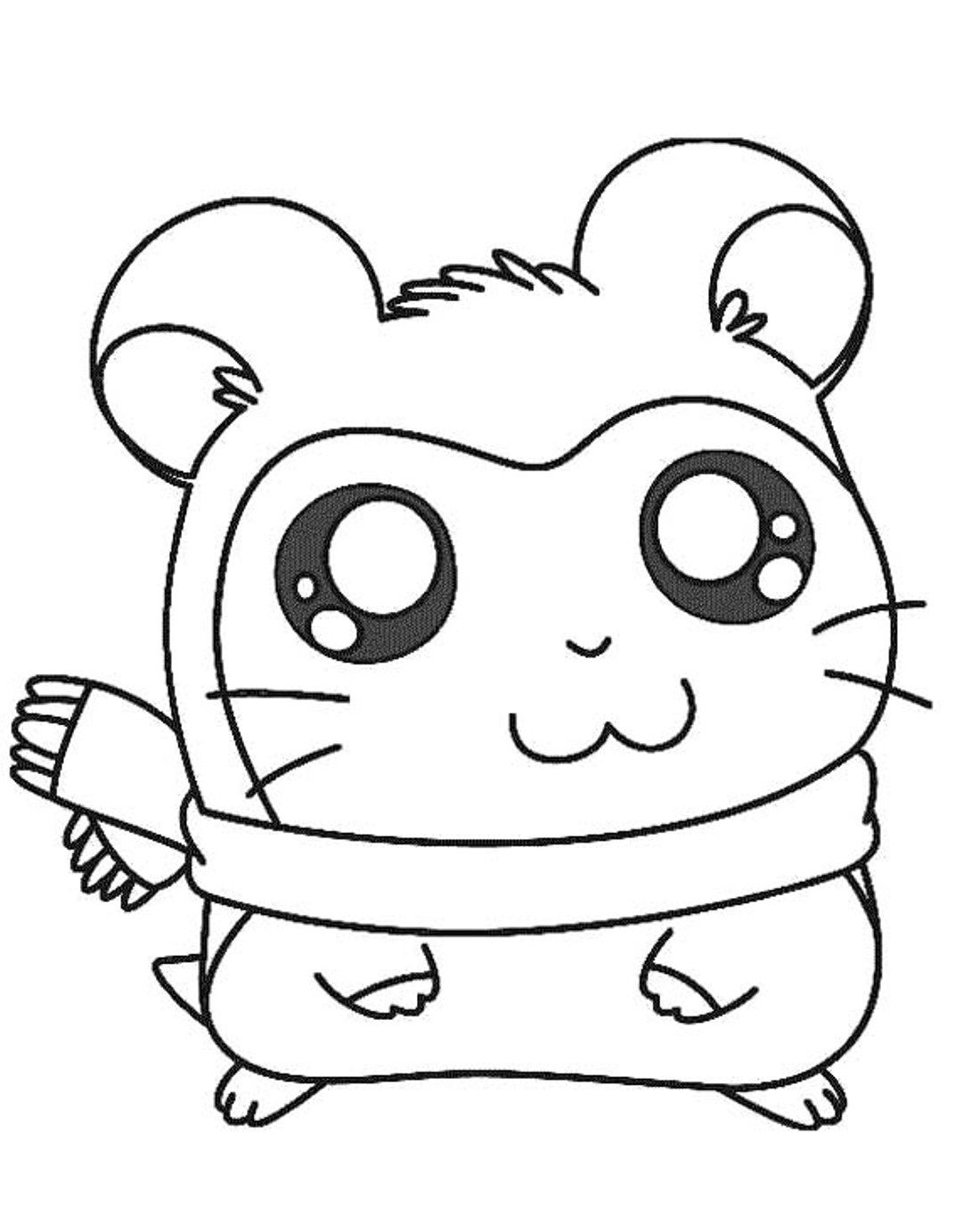 Ginnie Pig Coloring Pages
