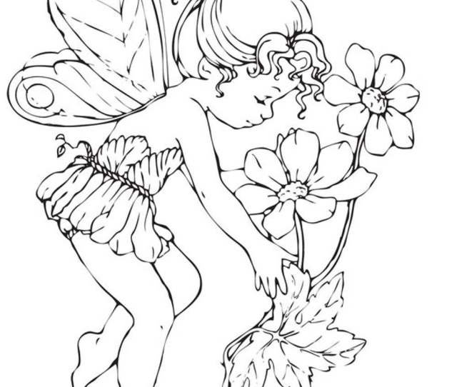 Coloring Pages Of Fairies For Adults Coloring Home