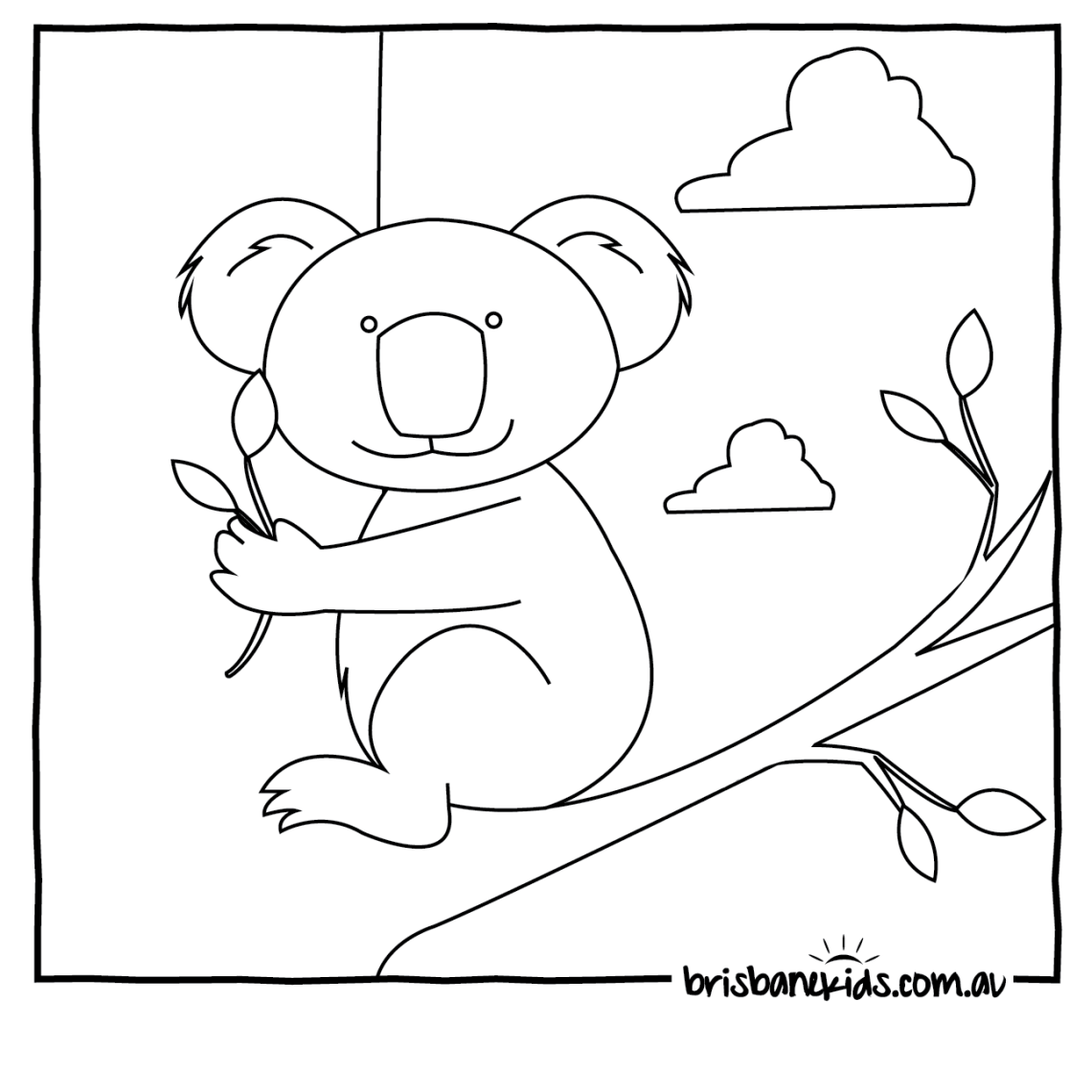Australia Coloring Page - Coloring Home | free printable colouring pages australian animals