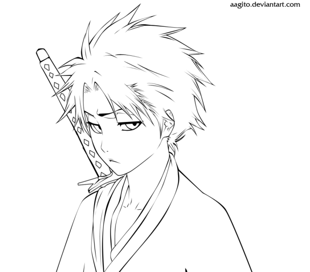 28 Pics Of Bleach Manga Coloring Pages - Anime Bleach Coloring