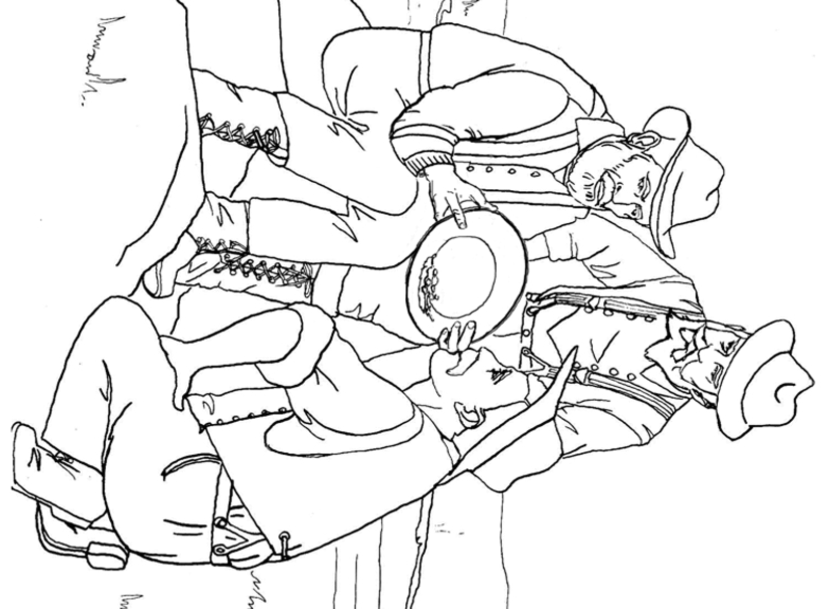 Printable Coloring Page Of A Gold Miner