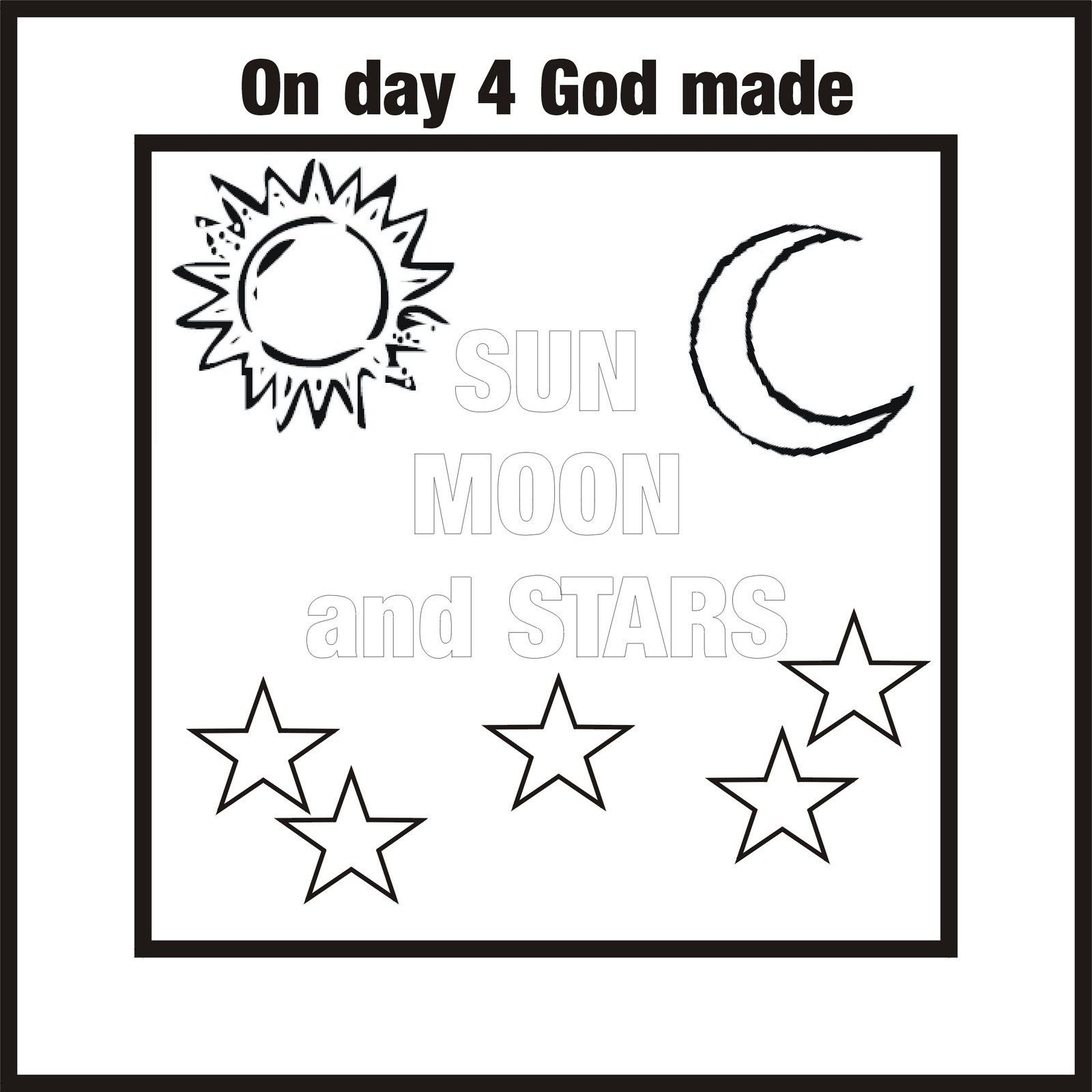 7 Day Creation Coloring Page Sketch Coloring Page