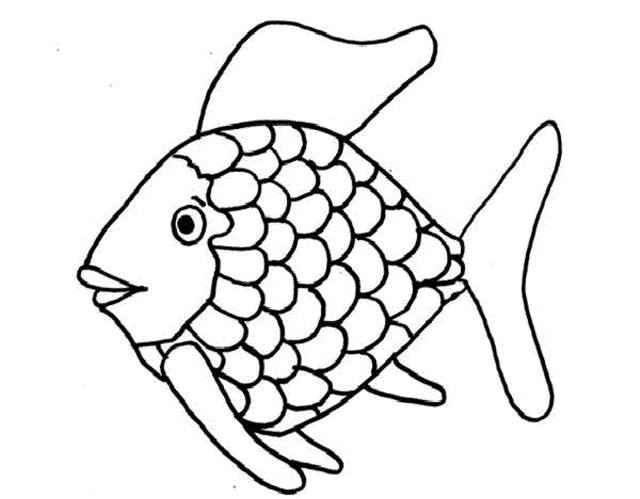 Rainbow Fish Coloring - Coloring Pages For Kids And For Adults