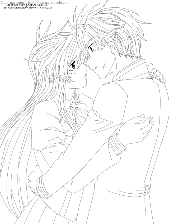 21 Cute Anime Couples Coloring Pages, Cute Anime Couples Coloring