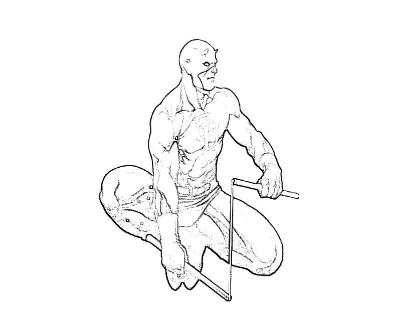Daredevil Coloring Page Coloring Home
