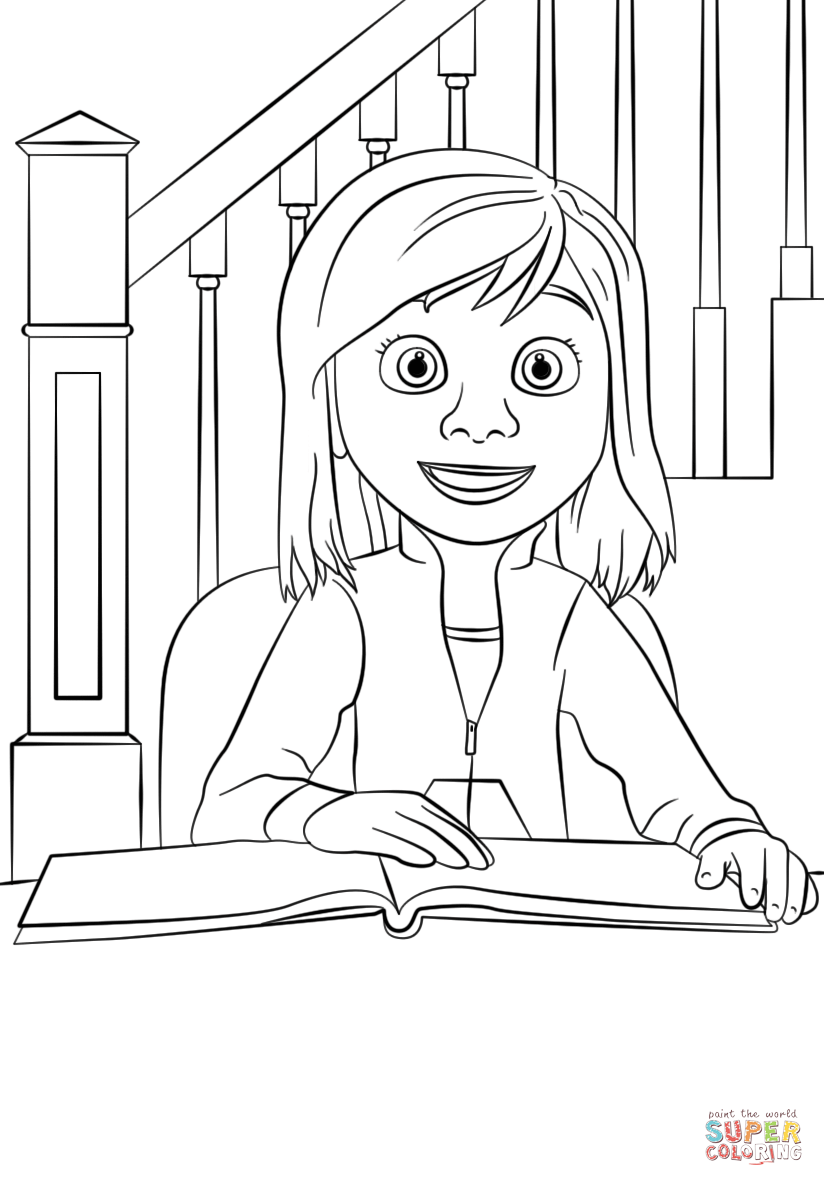 Riley Inside Out Coloring Pages Coloring Home