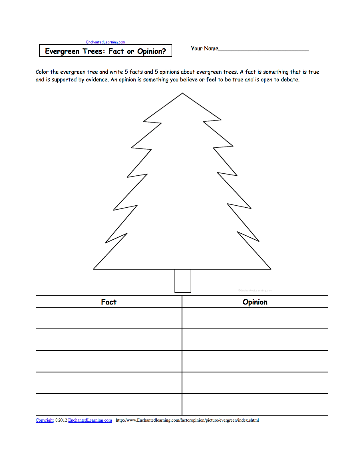 Evergreen Coloring Page