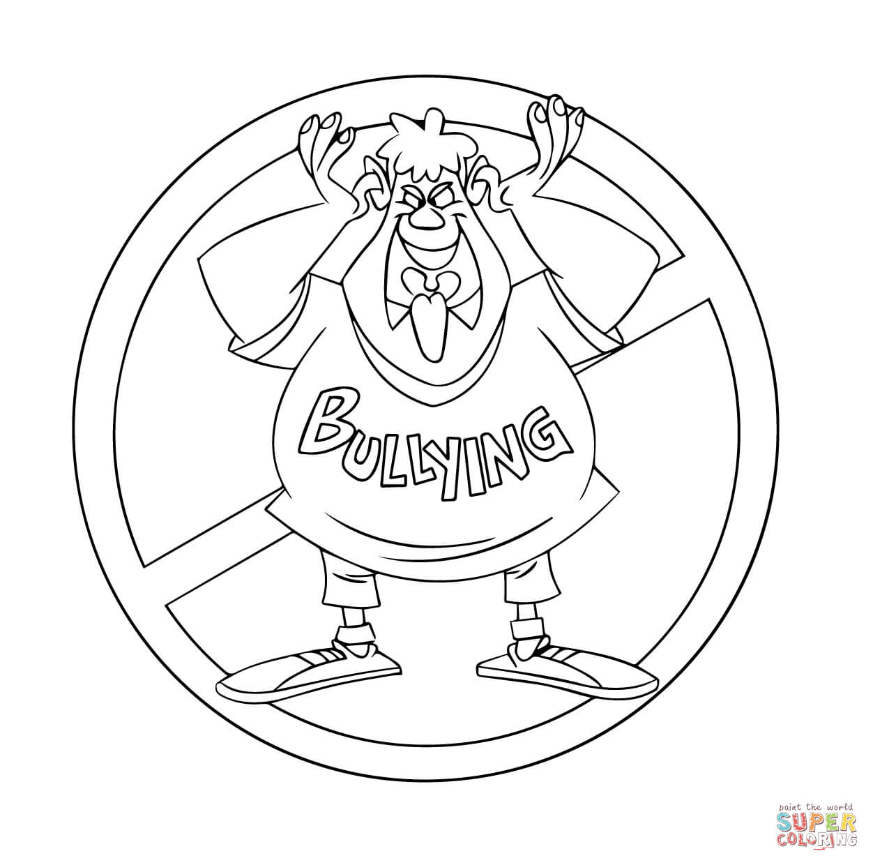 Bullying Coloring Pages Printable