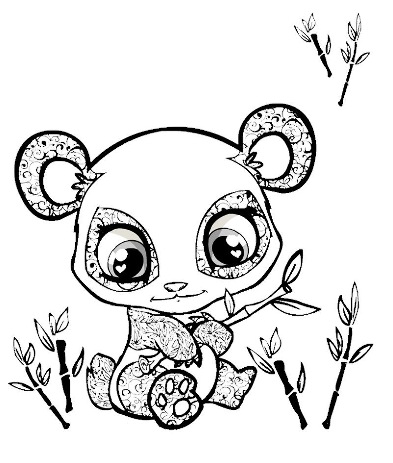Cute Panda Coloring Pages Coloring Home