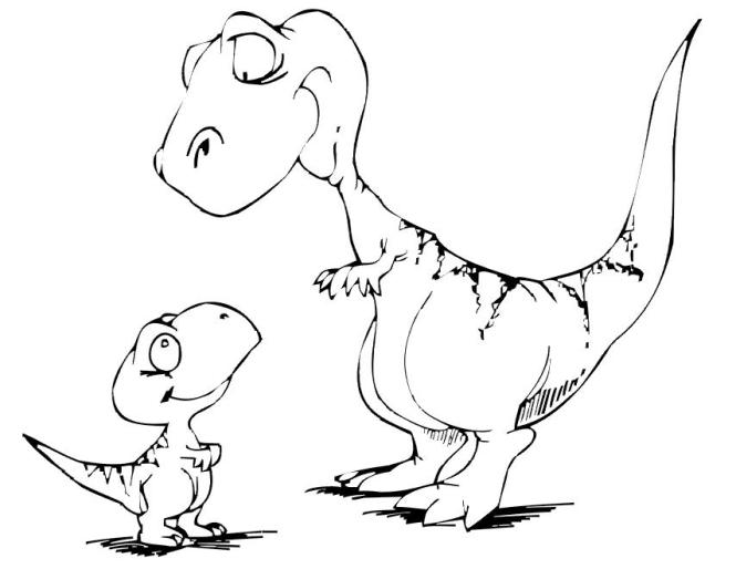 Baby Dinosaur Coloring Pages For Preschoolers   Coloring Page for kids