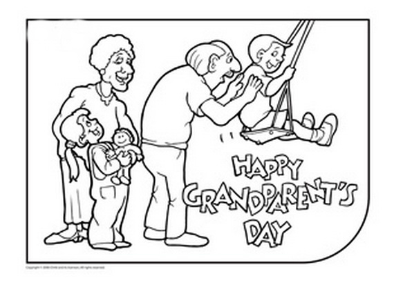 Grandparents Day Coloring Pages Free Printable