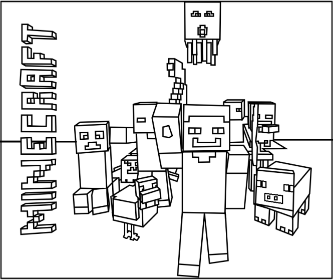 minecraft coloring pages | Coloring Page for kids