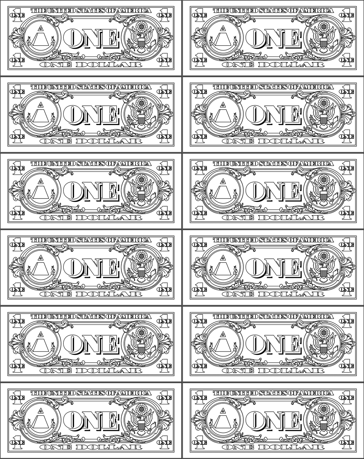 Printable Play Money 10