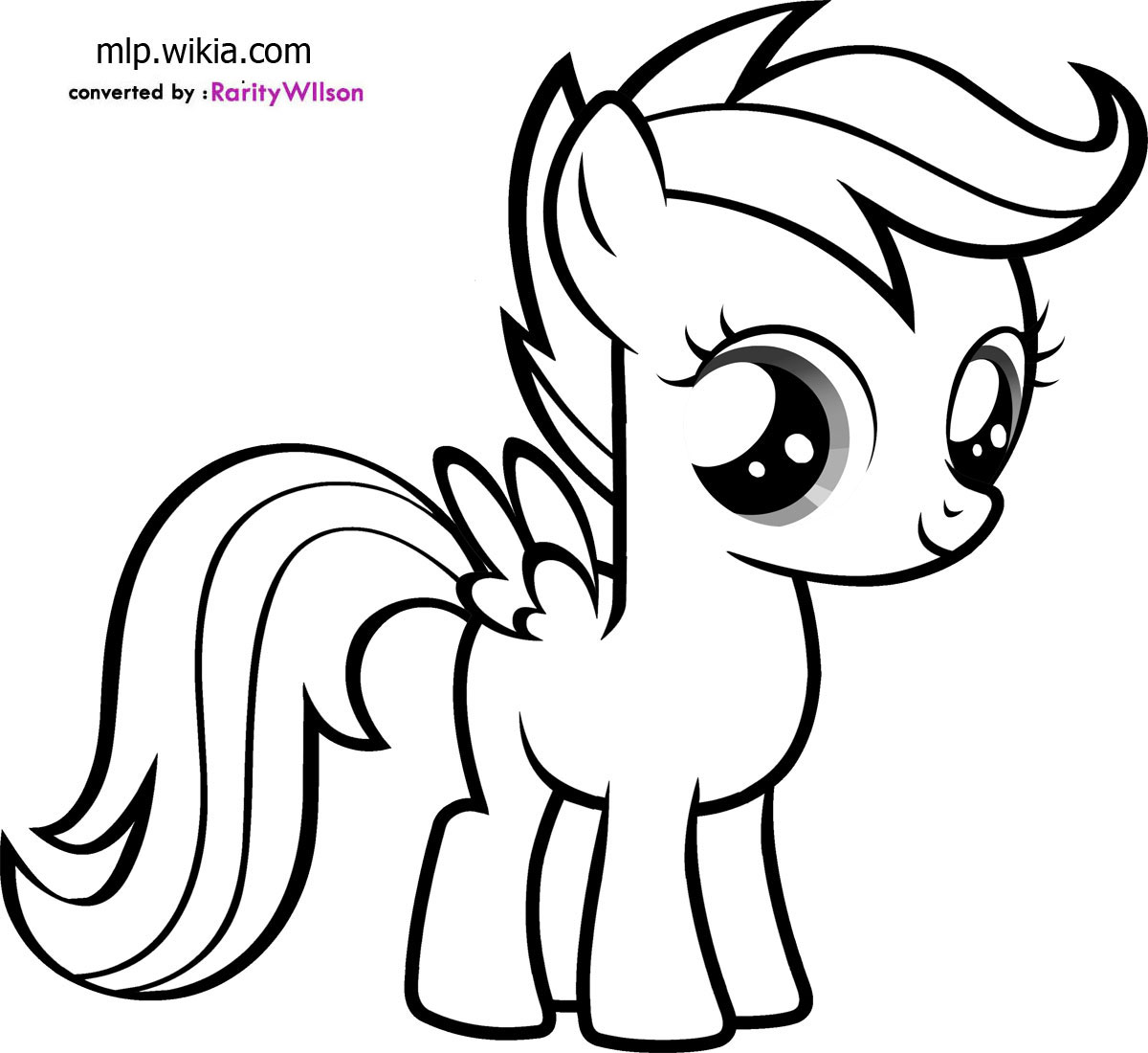Scootaloo Coloring Pages Coloring99 Coloring Kids