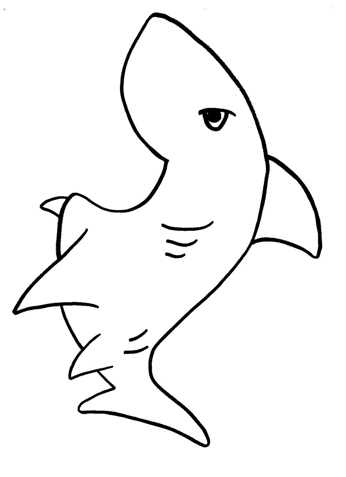 Shark Coloring Pages 11