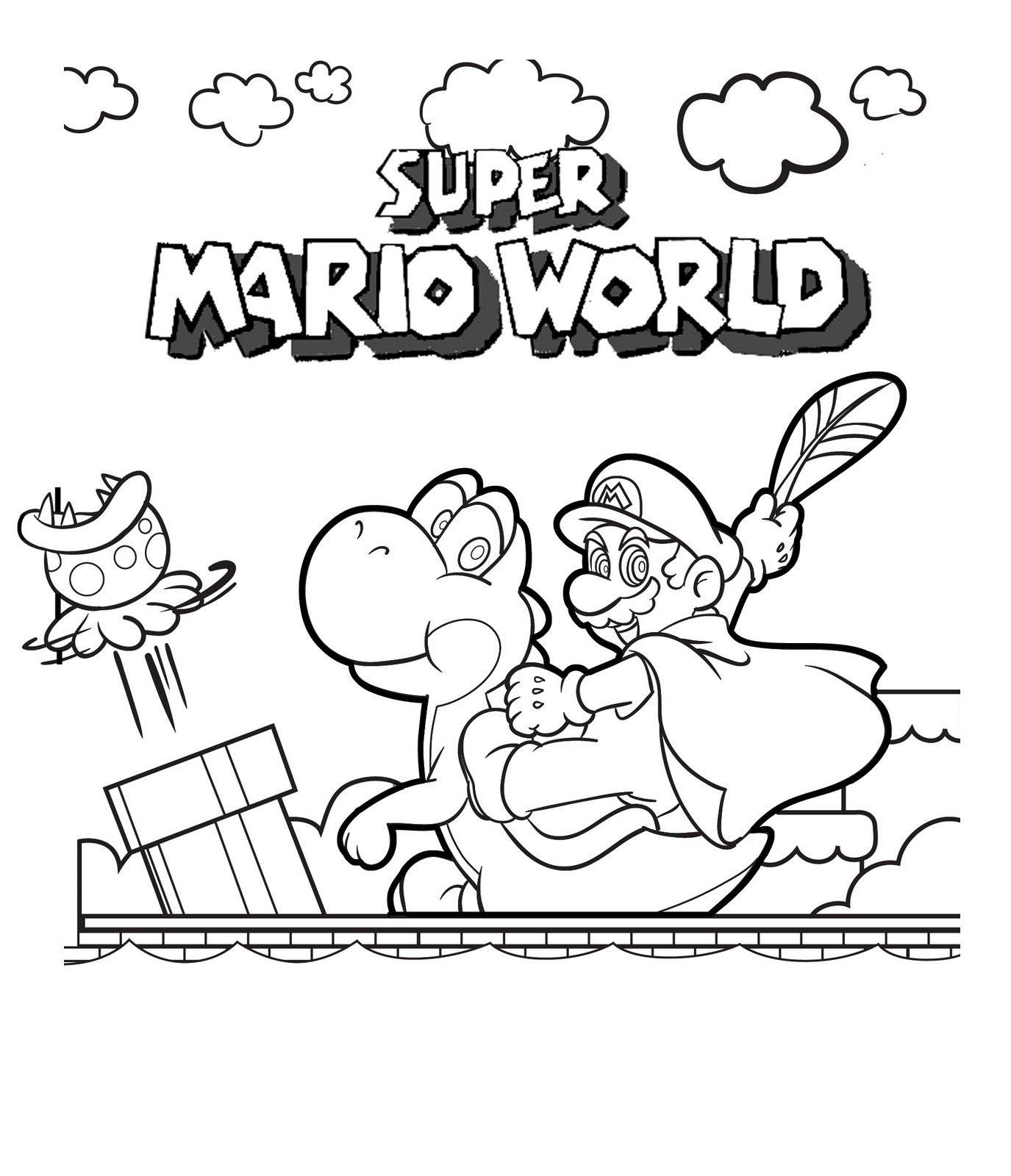 Super Mario Coloring Pages 4