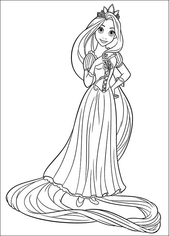 Tangled Coloring Pages 7