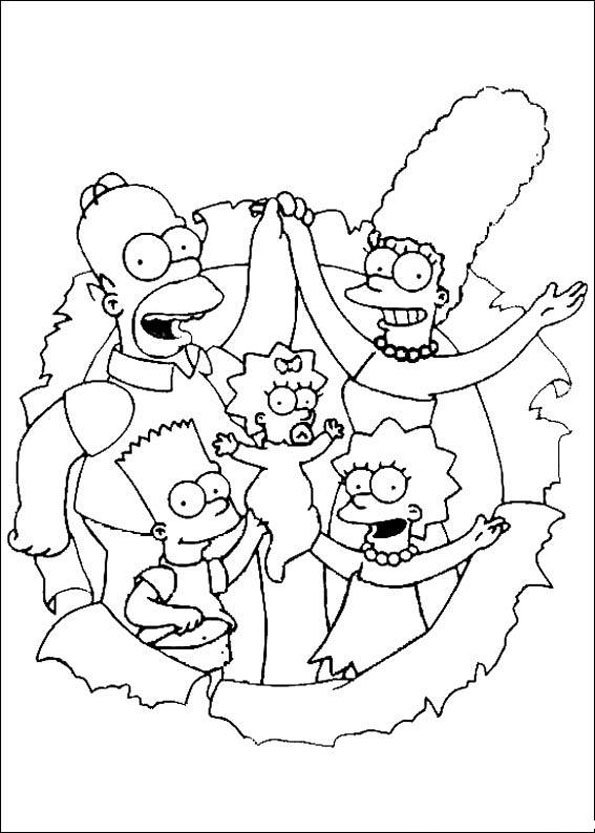 The Simpsons Coloring Pages Coloring Kids