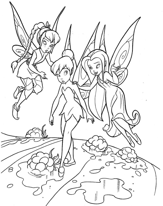 tinkerbell coloring pages | Coloring Page for kids