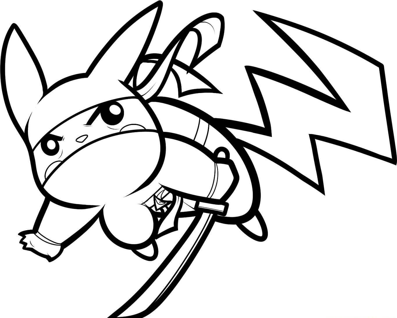 Ninja Pikachu Coloring Page Free Printable Coloring Pages For Kids