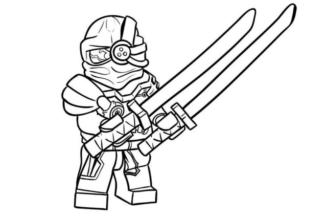 Evil Green Ninja Coloring Page - Free Printable Coloring Pages for