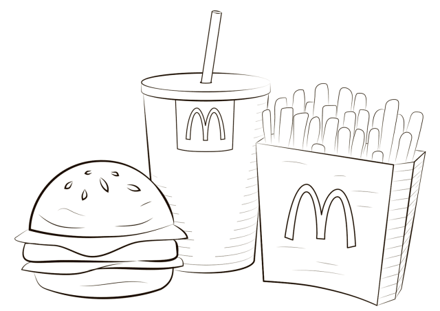 McDonald Food Coloring Page - Free Printable Coloring Pages for Kids