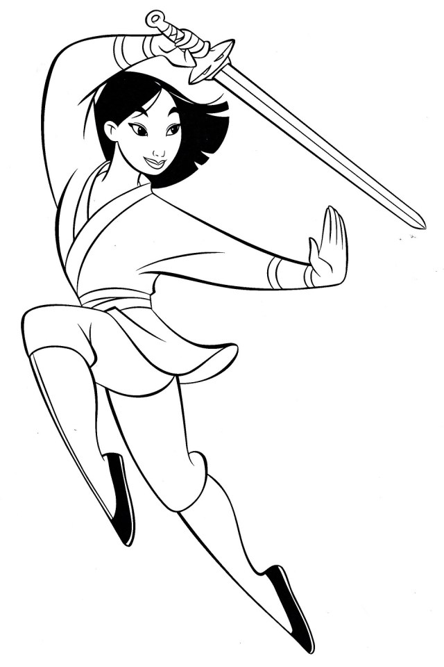Mulan Coloring Pages - Free Printable Coloring Pages for Kids