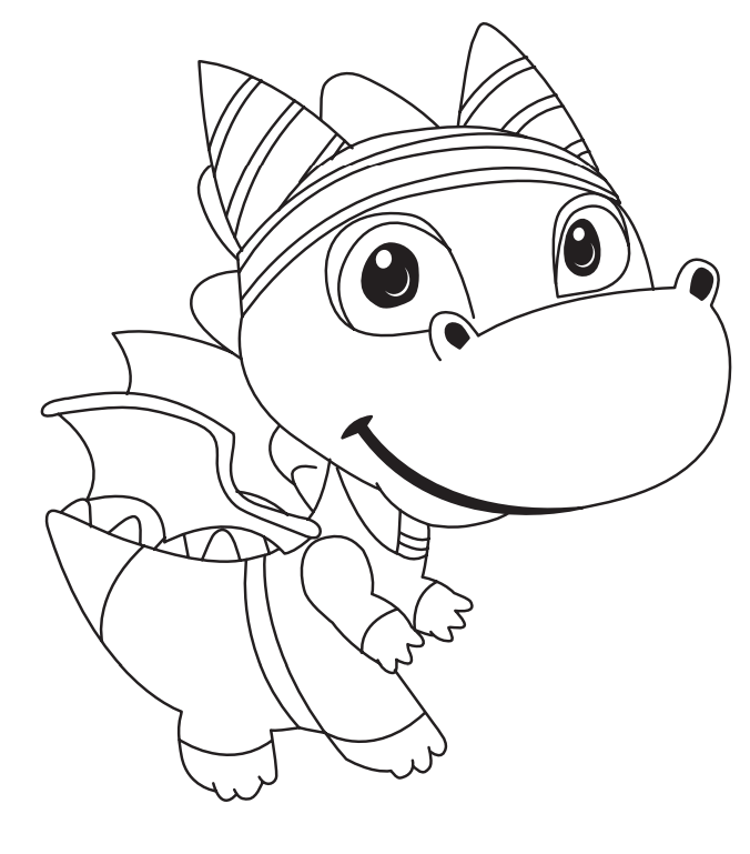 Cute Dragon Coloring Page Free Printable Coloring Pages For Kids