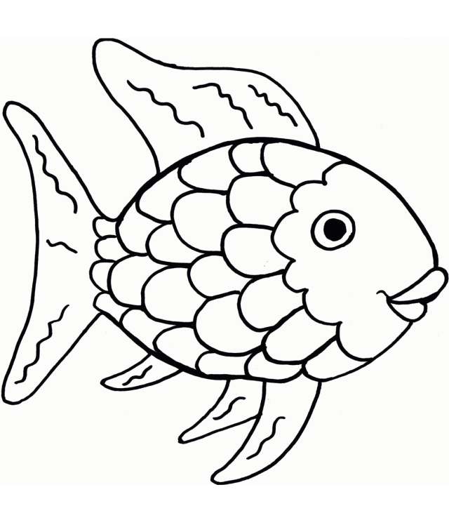 The Rainbow Fish Coloring Page - Free Printable Coloring Pages for