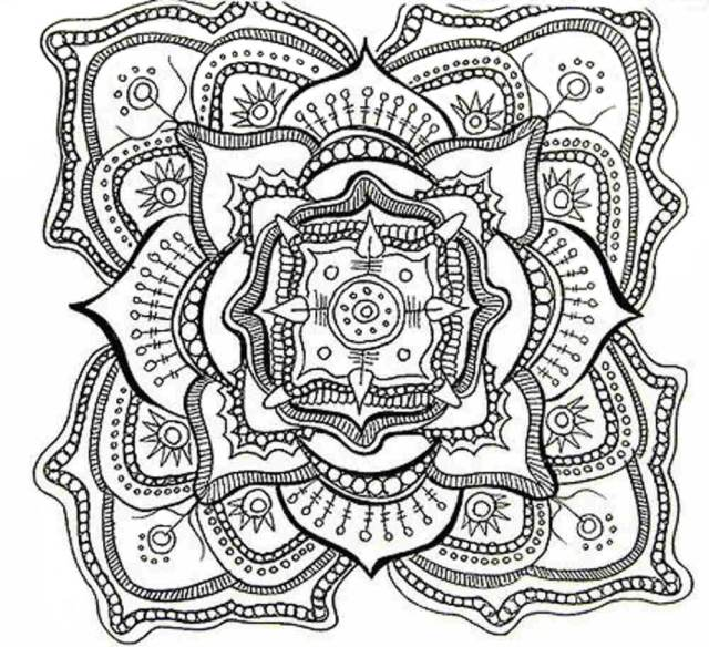 Advanced Abstract Coloring Page - Free Printable Coloring Pages