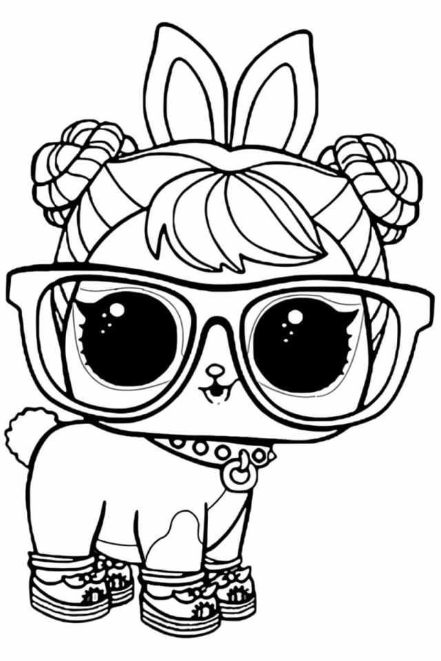 LOL Pet Bon Bon Bunny Hop Hop Coloring Page - Free Printable