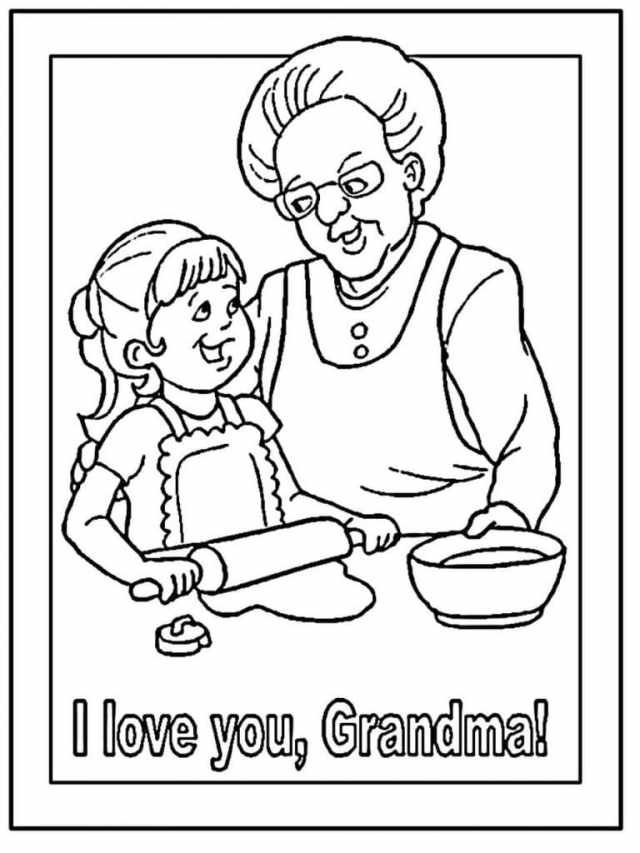 Love You Grandma Coloring Page - Free Printable Coloring Pages for