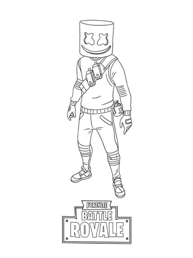 Marshmello Fortnite Coloring Page - Free Printable Coloring Pages